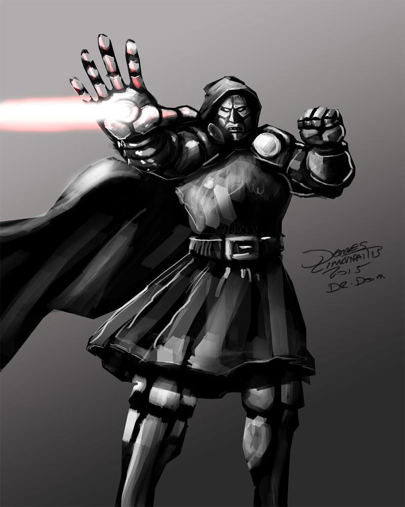 Dr. Doom (Daily Sketch Challenge) by jameslink