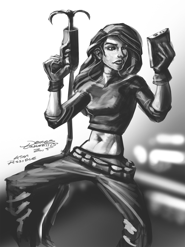Kim Possible (Daily Sketch Challenge) by jameslink