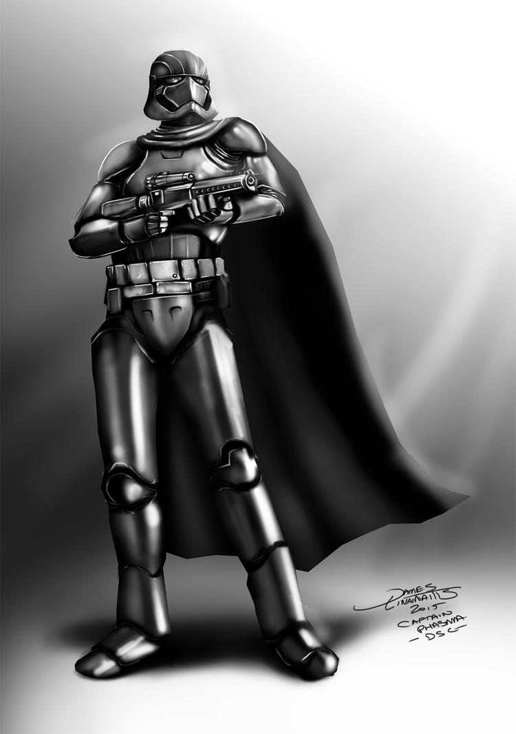 Captain Phasma - Star Wars -Daily Sketch Challenge by jameslink