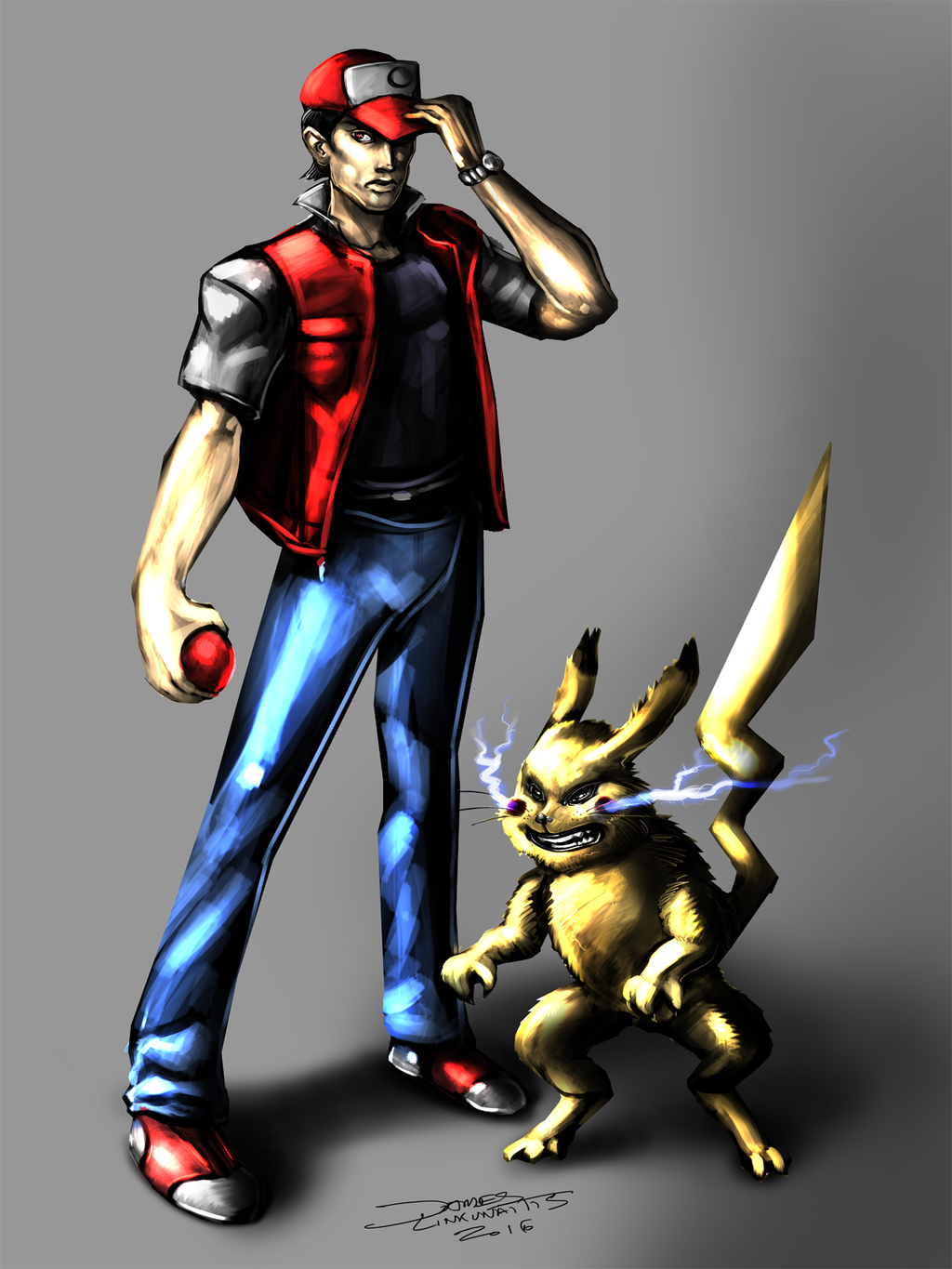 ash and pikachu years later pokemon by jameslink on deviantart