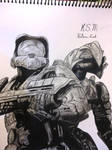Master Chief and  Arbiter from Halo 3