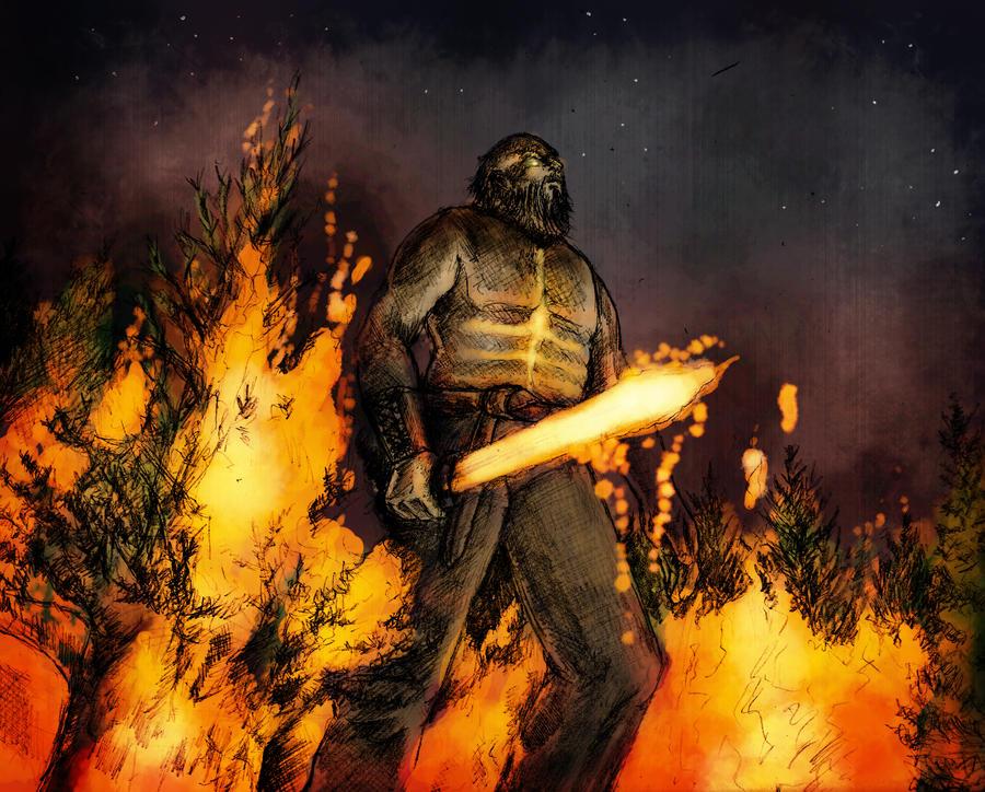 Fire Giant Surt by RatatoskAS on DeviantArt