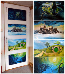 Door Paintings by AniaArtNL