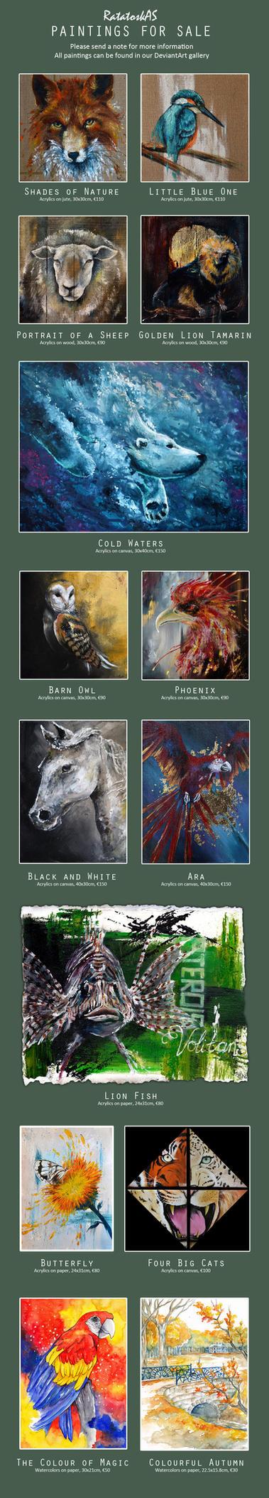 [For sale] Original paintings by RatatoskAS
