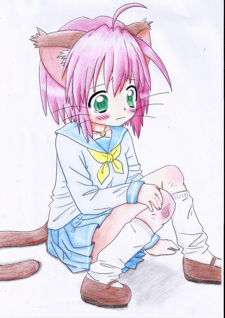 Cute neko girl