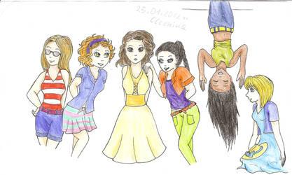 Girls by cleonina