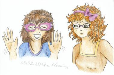 Nina i Tina by cleonina