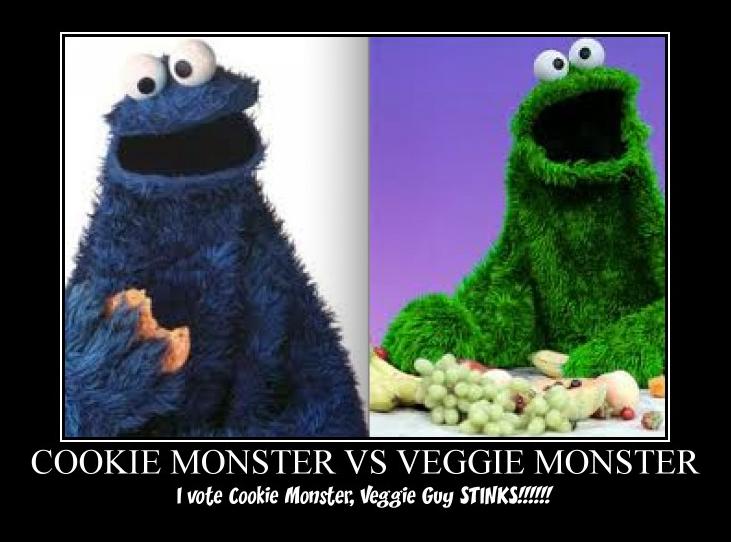 Cookie Monster VS Veggie guy by beckyboo2018 on DeviantArt