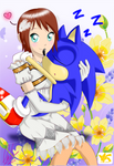 Sonic y Elise!