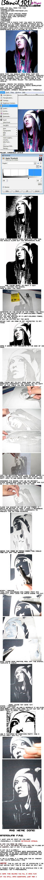 Stencil 101 Tutorial ft Miyavi