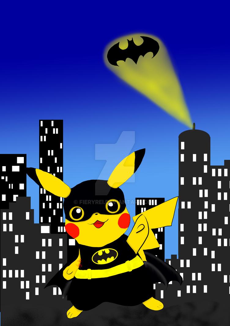 Pikaman! Pikachu as Batman by FieryRei