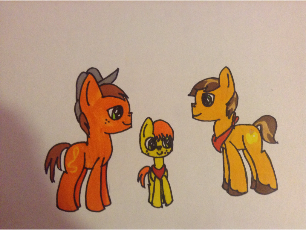 Golden Delicious meets Bismarck and Bucky by Samantha0912