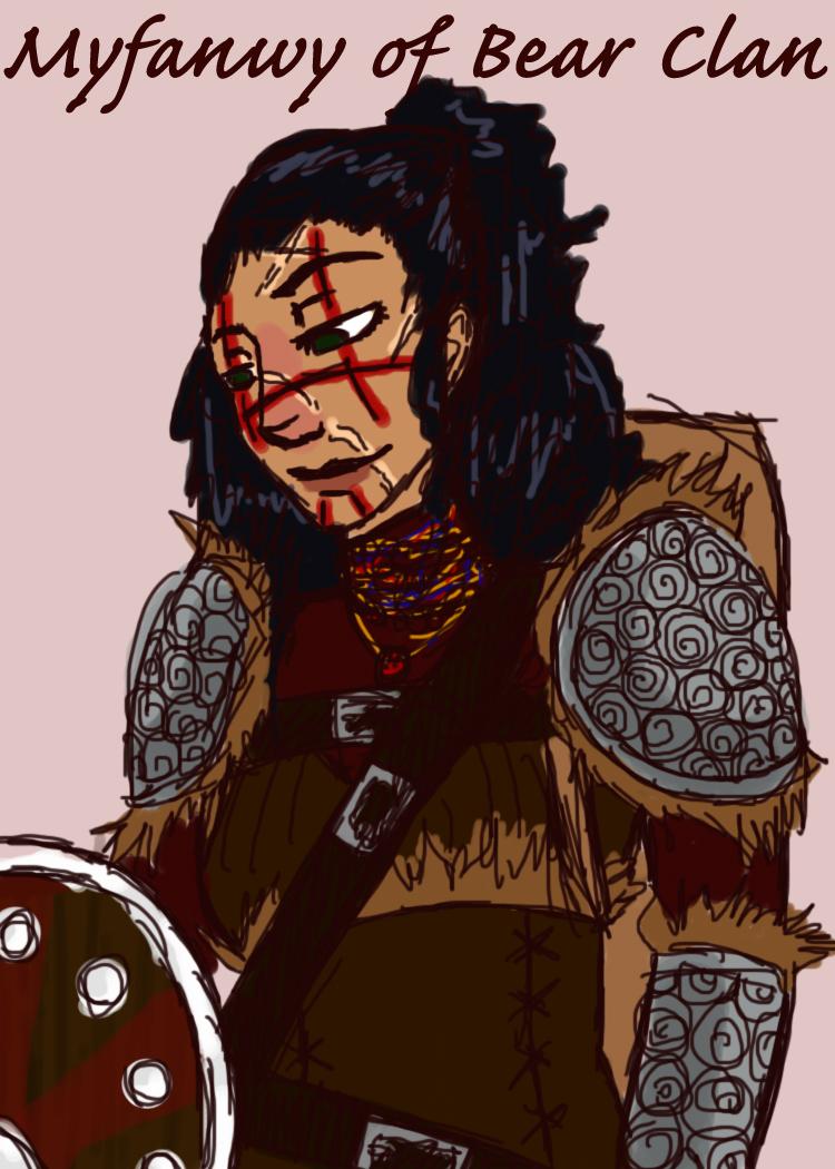 Myfanwy of Bear Clan by Nefferduat