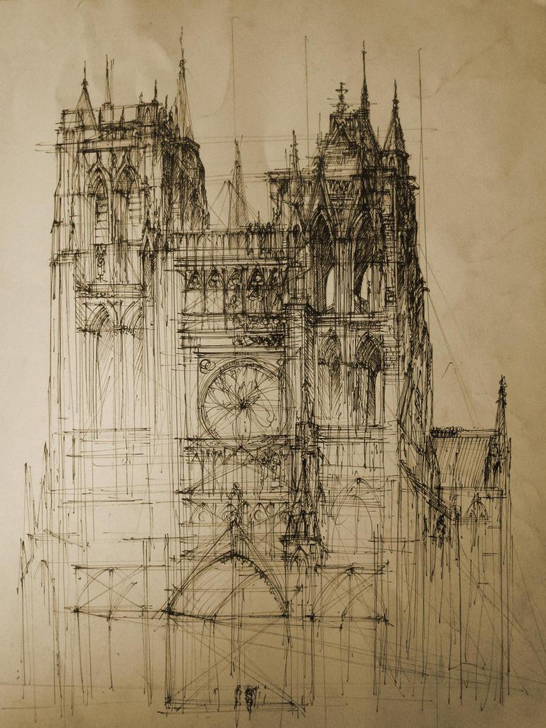 Gothic cathedral by monikadomaszewska on deviantart for Art architectural