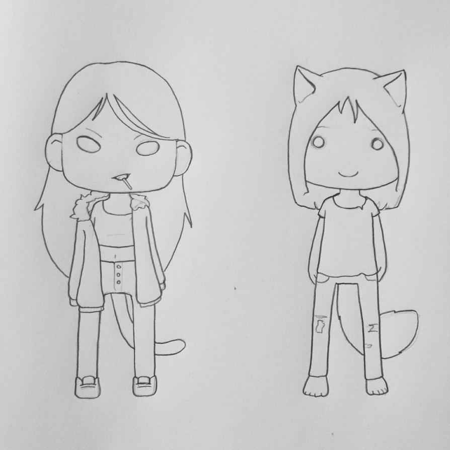 Lollie and Wolfie 2 by Tefu-Tefu