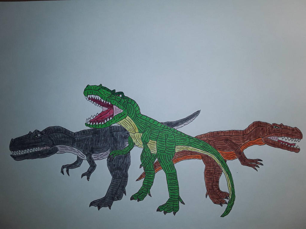 LBT Sharptooth Trio (realistic) by blueacro38 on DeviantArt