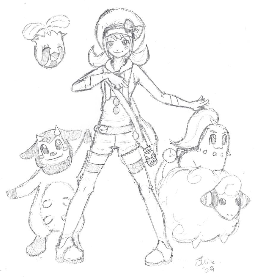 pokemon new person by 6574zetzu