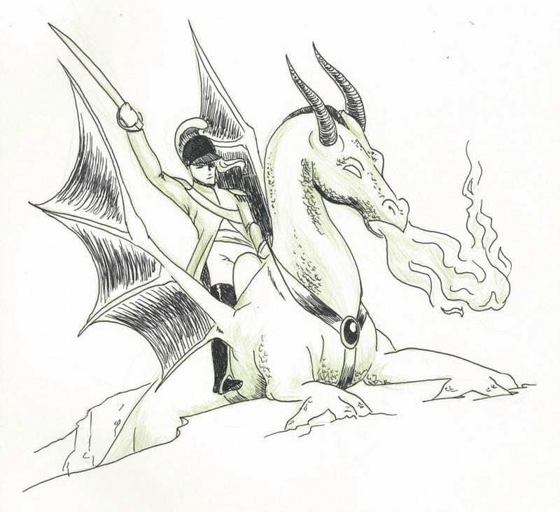 Inktober day 21 - Dragoon by tartleigh