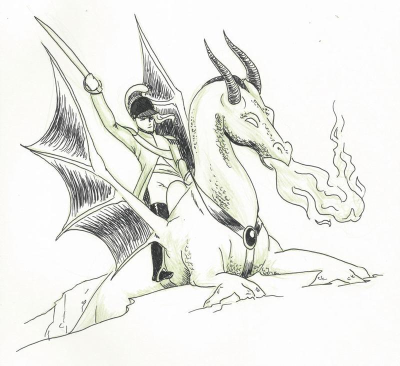 Inktober day 21 - Dragoon by tartleigh