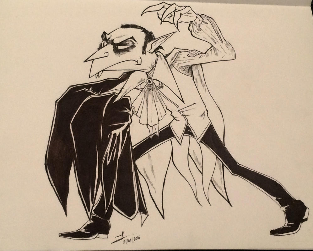 Inktober day 1 vampires  by Lx8-2
