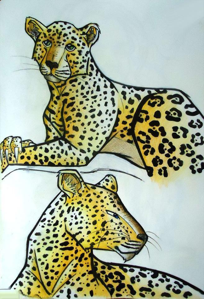 Leopard Sketch 2 by Zero-Knight-Daken