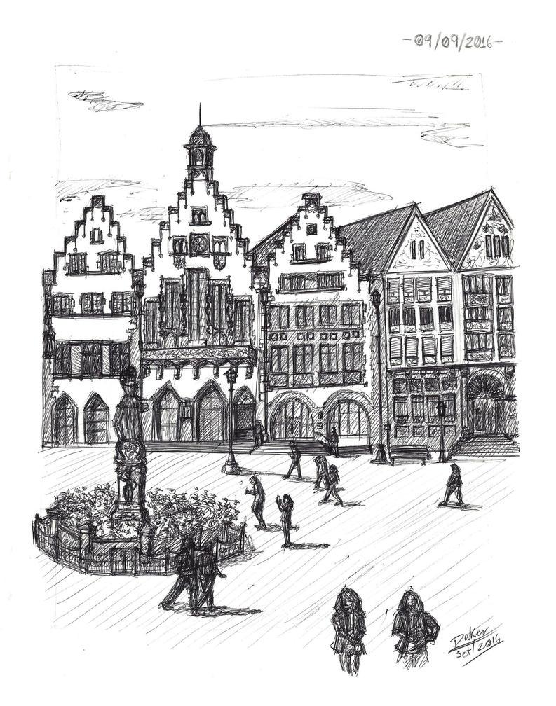 Observational Sketch 6 - German Square by Zero-Knight-Daken