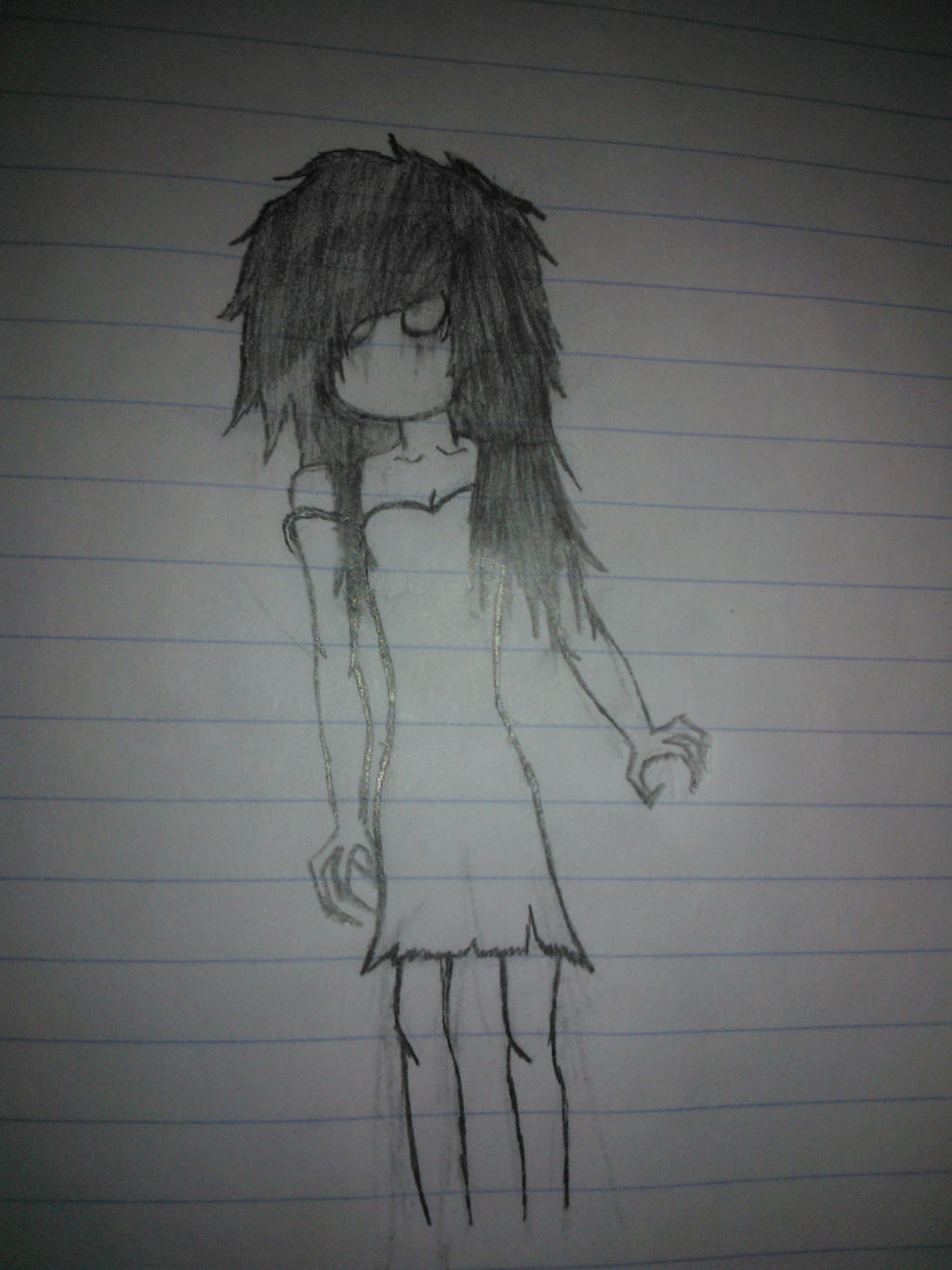 Creepy girl by Boojaybabe