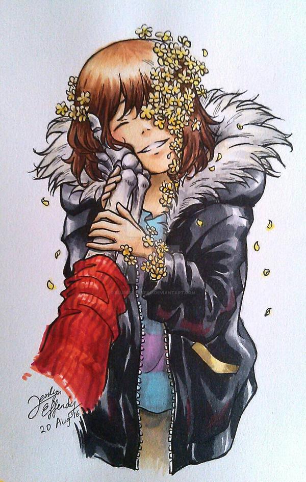 Flowerfell Frisk by Blu3berryStar