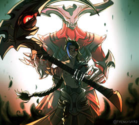 League of Legends: Kayn and Rhaast (commission) by xxhopefortheworldxx