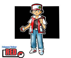 Classic Pokemon Trainer Red by Skatoonist