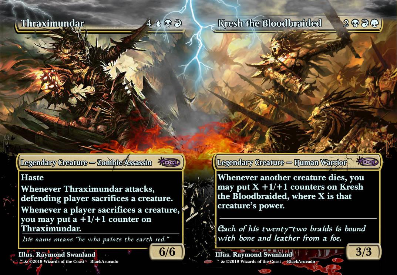 Thraximundar vs Kresh the Bloodbraided
