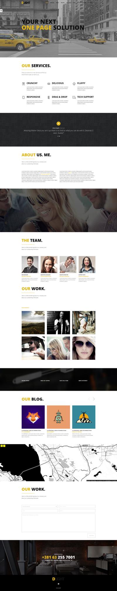 D-light One Page Wordpress Website - Light version by ShindiriStudio