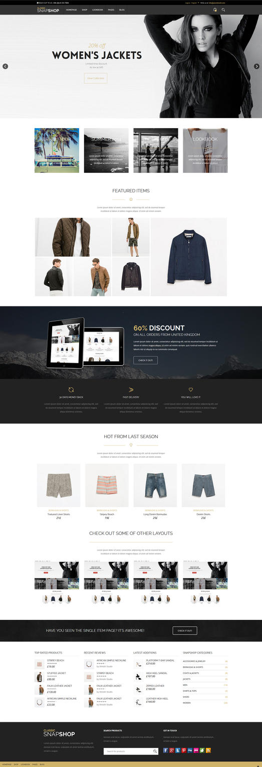 Snapshop - Functional e-commerce website by ShindiriStudio