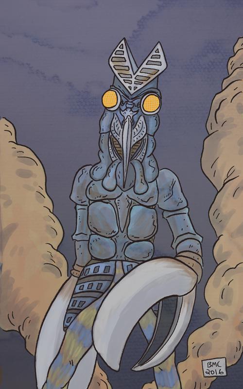 Alien Baltan by bretterson