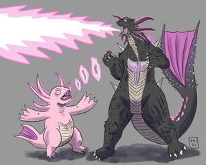 Godzilla Rift and Minilla: Atomic Breath