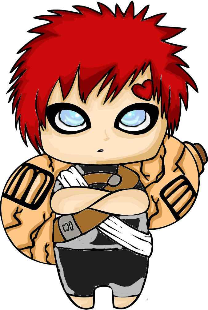 Gaara chibi by RainbowKitteh on DeviantArt Gaara And Naruto Chibi