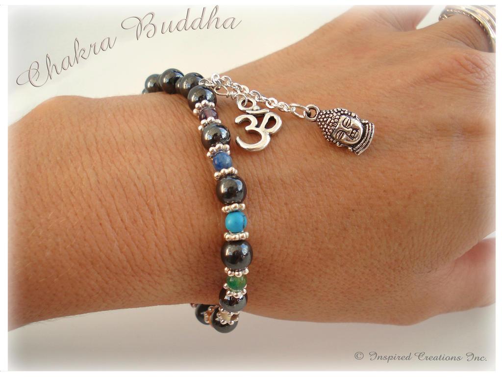 Chakra Om Buddha Bracelet Chakra Energy Gemstones By