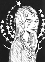 stars [inktober] by autumnicity