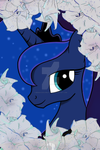 Luna with moon flowers