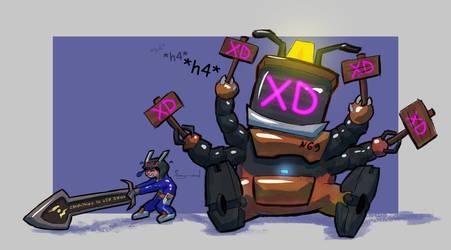 'XD. TRUE DAMAGE.' Reworked Nunu Bot fanart