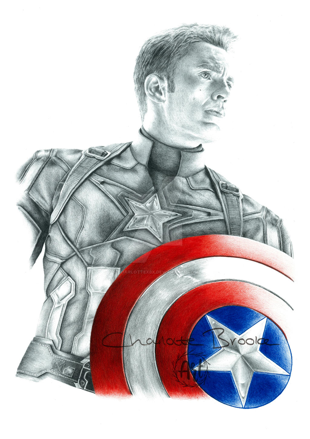 Captain America Drawing by Charlottexbx on DeviantArt