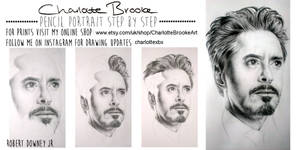 Robert Downey Jr. Step by Step Drawing