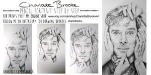 Benedict Cumberbatch Step by Step Drawing