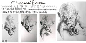 Gollum Step by Step Drawing