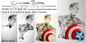 Captain America Step by Step Drawing
