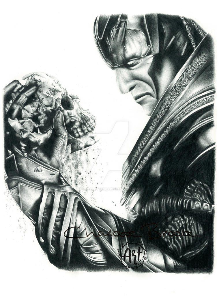 X men apocalypse pencil drawing by charlottexbx