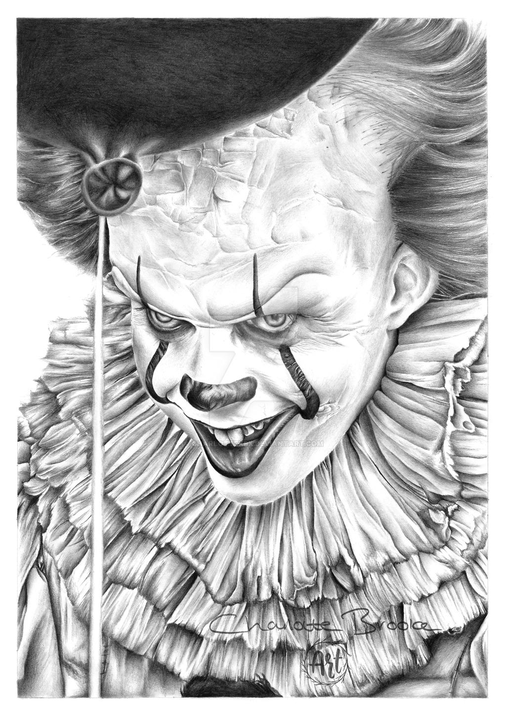 It Pennywise Drawing By Charlottexbx On Deviantart