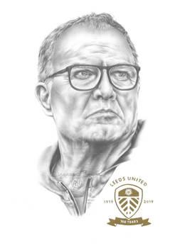 Marcelo Bielsa Pencil Portrait Drawing