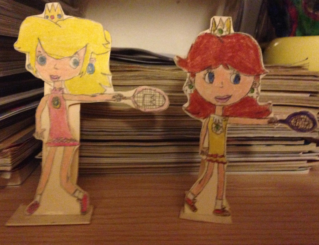 Peach and Daisy stand up drawings by Prince5s