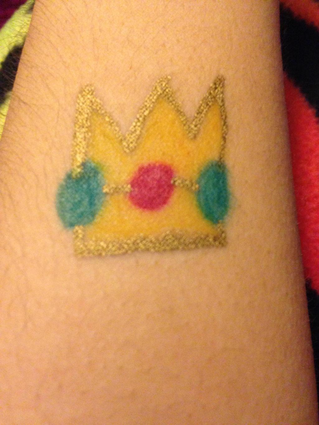 Princess Peach S Crown Sharpie Tattoo By Prince5s On Deviantart